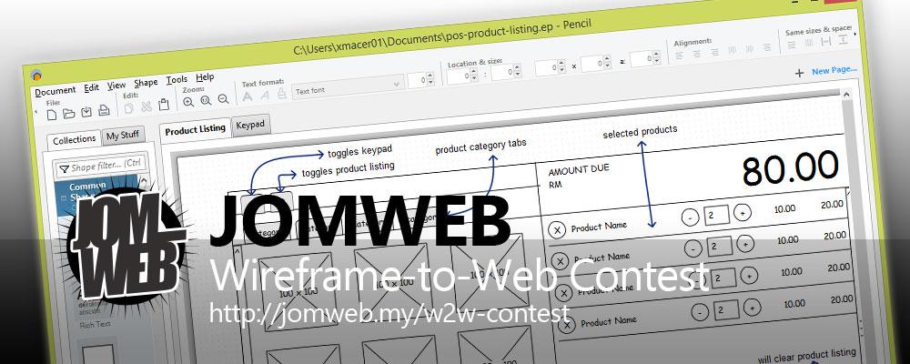 jomweb - wireframe-to-Web Contest